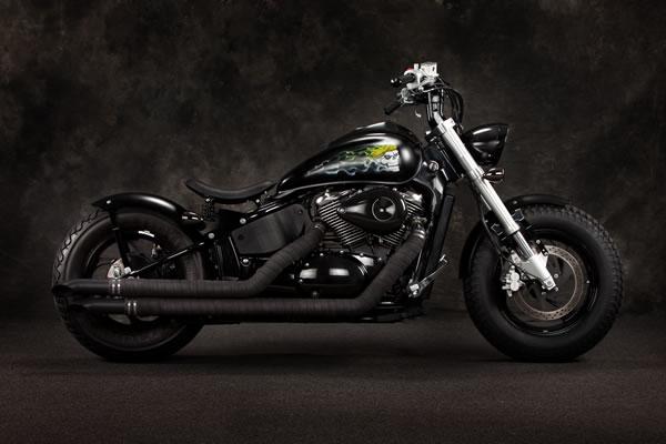 biker excalibur II  Suzuki 800 Bulevar M50 by Blue Collar Bobbers