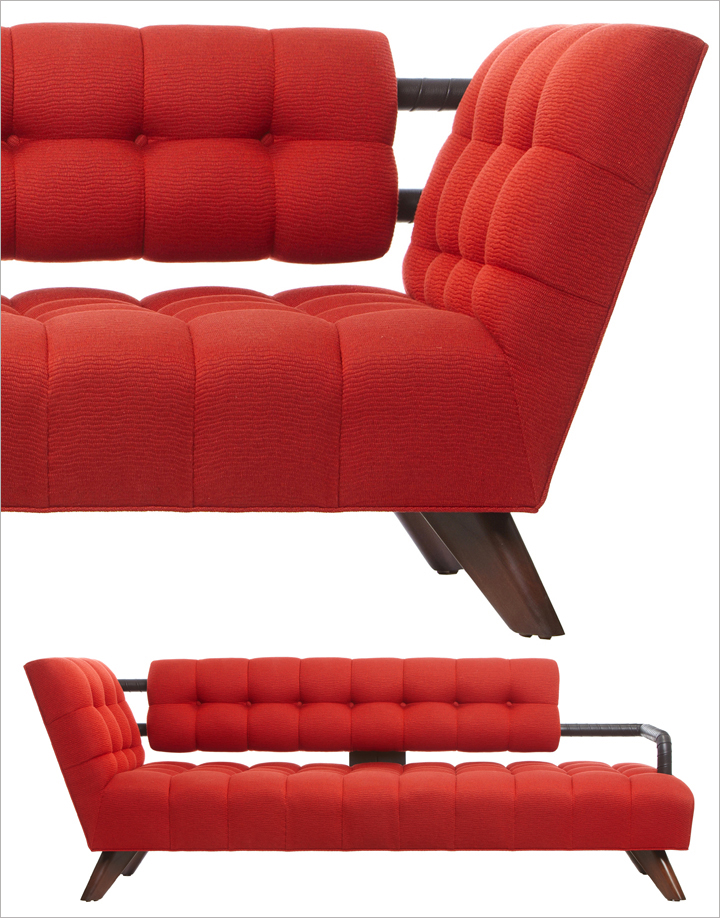 BE MY VALENTINE: WILLIAM HAINES SOFA -- Sleek. Smart. Modern. Words that  sum up the style of the true Hollywood decorator and furniture designer  William ...