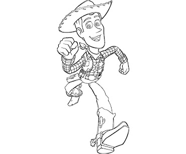 #10 Sheriff Woody Coloring Page