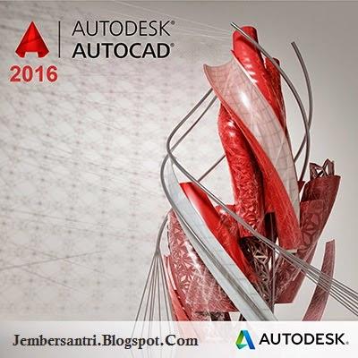 Autodesk Autocad 2016 Cover Logo by http://jembersantri.blogspot.com/