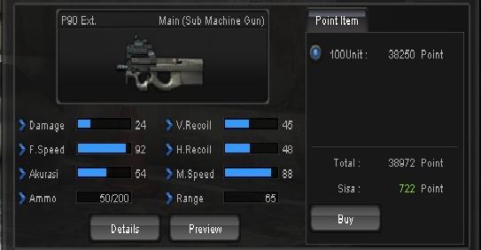 Beda seperti P90 EXT point, senjata P90- EXT D Cash ini memiliki ...