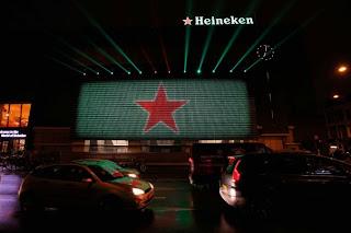 amsterdam light festival heineken, streetmarketing heineken, affichage heineken