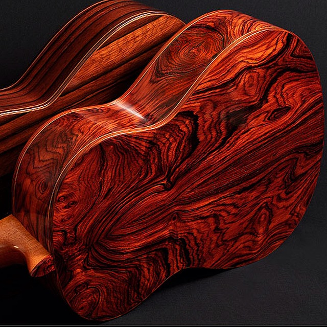 Tropical Exotic Hardwoods Cocobolo Flamenco Guitar By