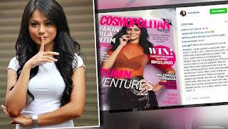 Aksi seksi Tasha Shilla hiasi muka depan Cosmopolitan
