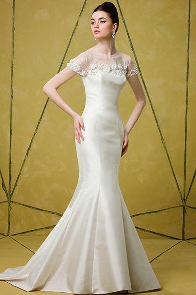 Badgley Mischka, 2014 Gelinlik Modelleri, deniz kızı gelinlik, uzun gelinlik, dantelli gelinlik,