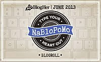 NaBloPoMo June 2013