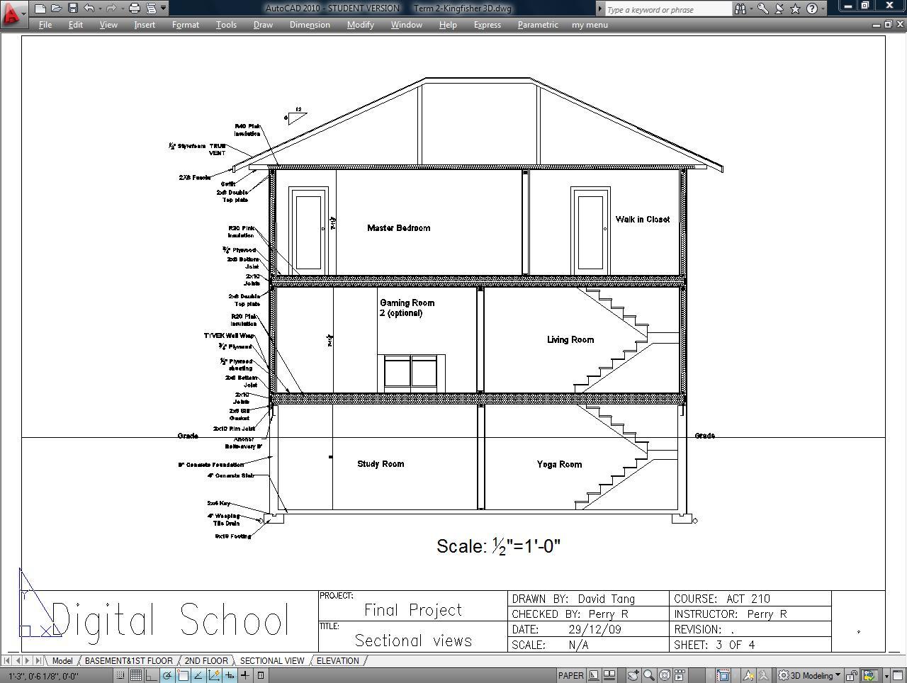 Portfolio Drawings: Architectural I CAD