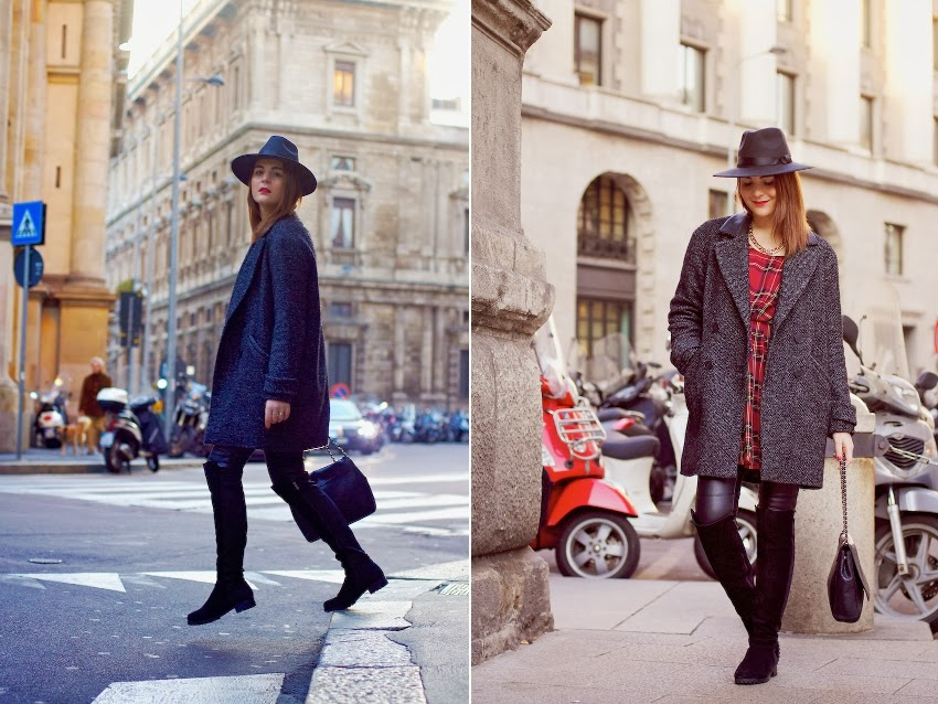 fashion blogger milano look inverno con cappotto e stivali