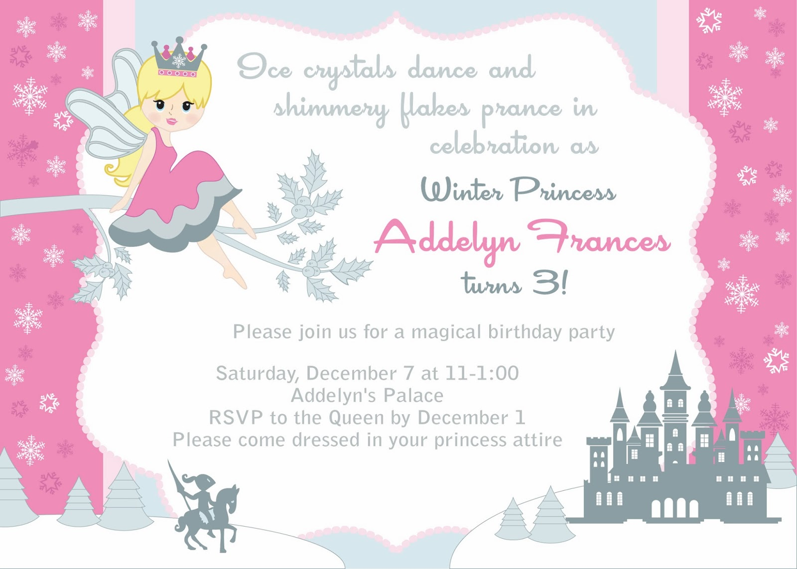 princess themed birthday party invitations - Paso.evolist.co