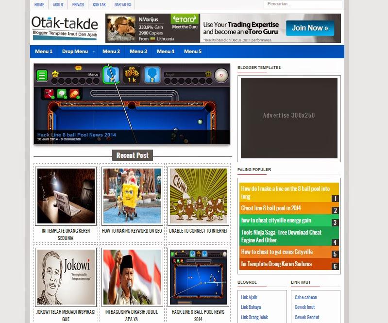 Download Template Blogger Paling keren Sedunia