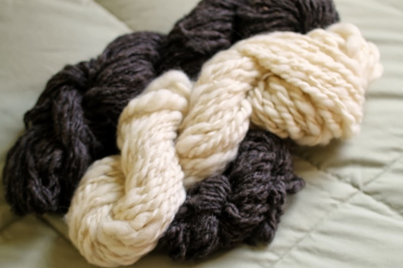 Handspun wool yarns