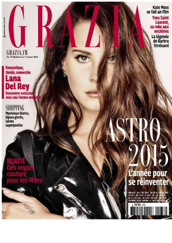 Lana Del Rey covers Grazia France December 2014