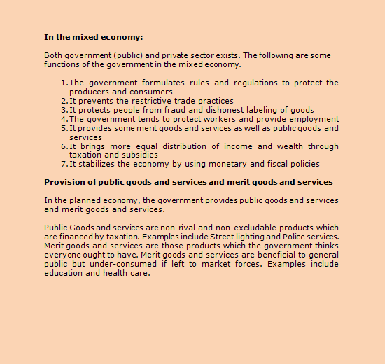 28 The Government As A Producer Of Goods And Services And As An