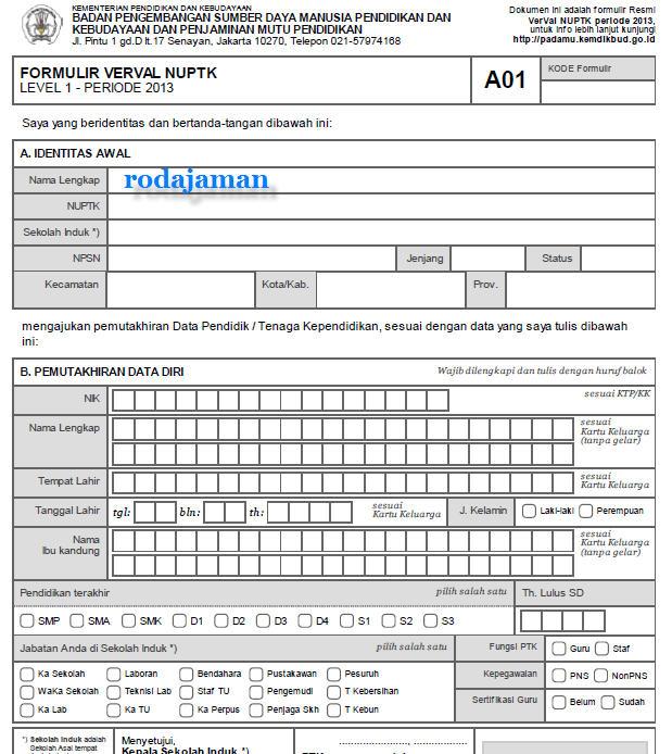 Contoh Formulir A01/A02/A03/A04, Surat Aktivasi Akun, dan Tanda Bukti VerVal Lv1 / Lv2 Padamu Negeri