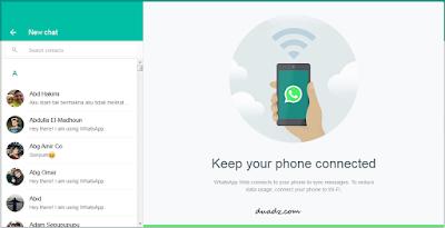 WhatsApp Menggunakan PC / Laptop