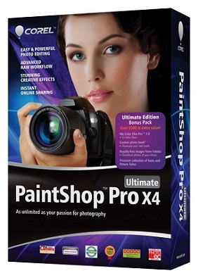 Corel PaintShop Pro X4 + Serial