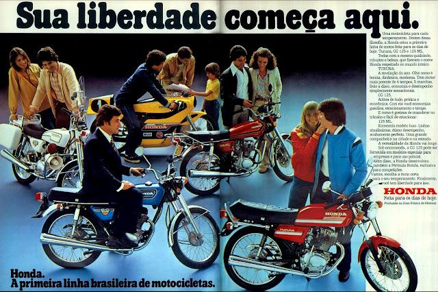 propaganda motocicletas Honda - 1978