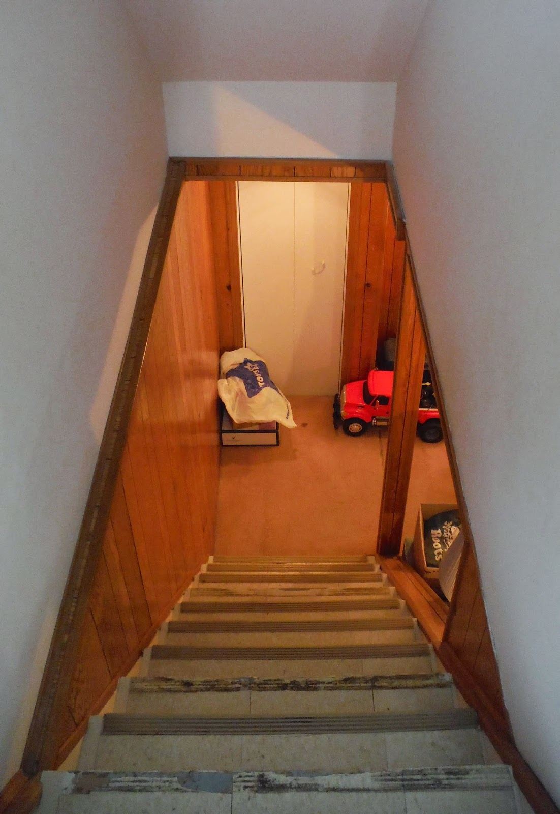 staircase, green renovation, TJ's Green Adventure