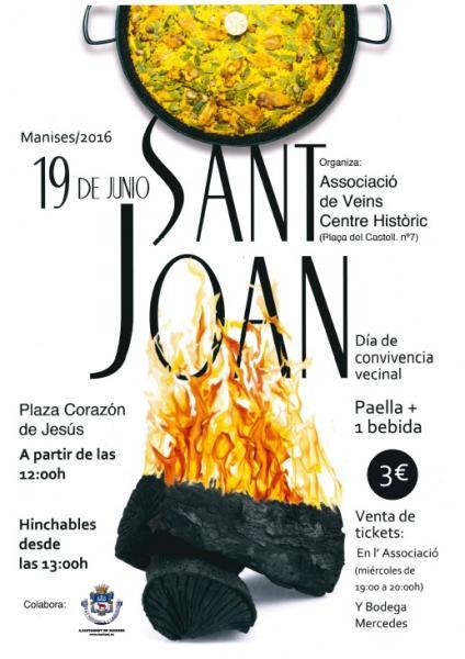 19.06.16 L'ASSOCIACIÓ DE VEÏNS DEL CENTRE HISTÒRIC DE MANISES EN SANT JOAN