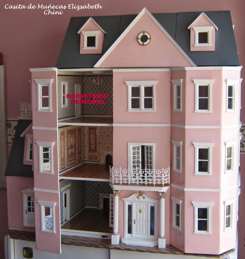 Casita de mu ecas de elizabeth dormitorio principal decoraci n mansi n - Decoracion de casas de munecas ...