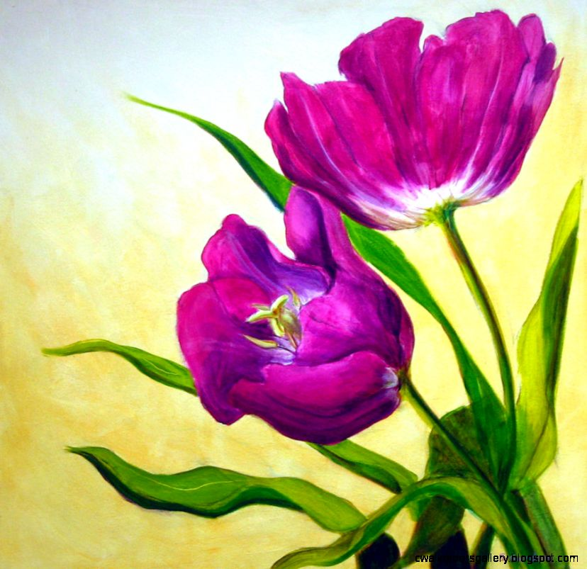 1000 images about flower paintings on Pinterest  Tulip Painting