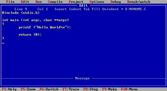 Language tutorial borland turbo c and turbo c editors Compiler for c language