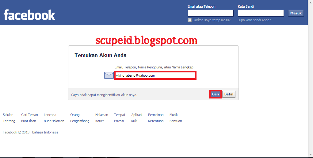 how to get facebook email and password
