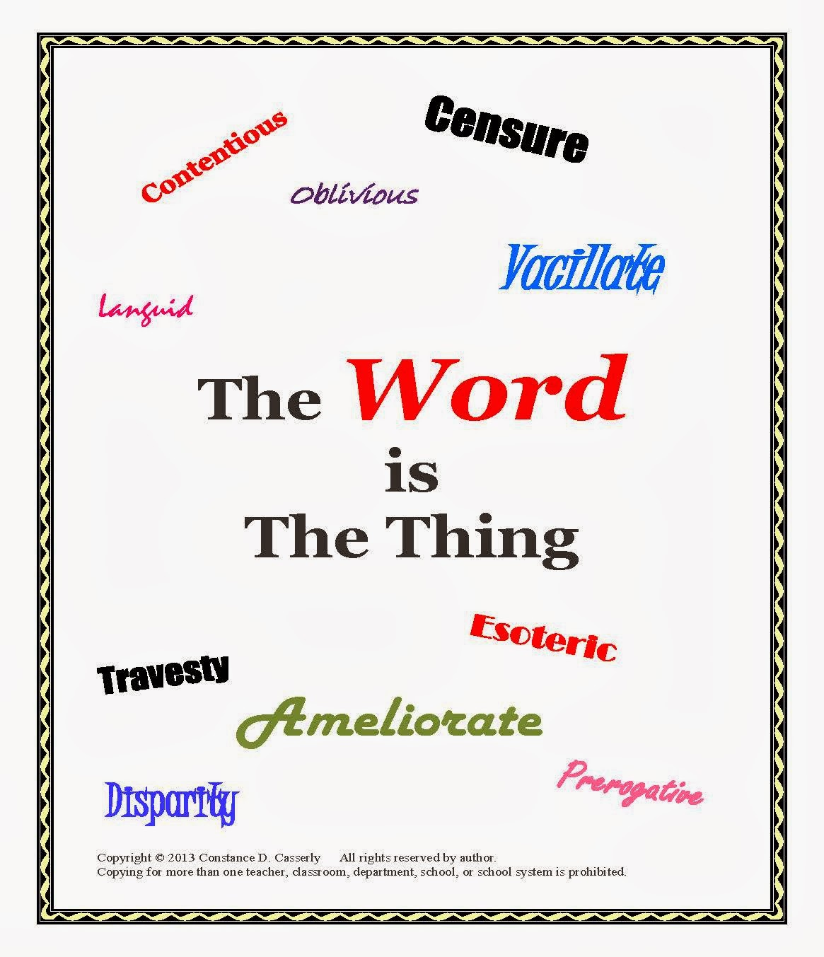 The Word is the Thing cover