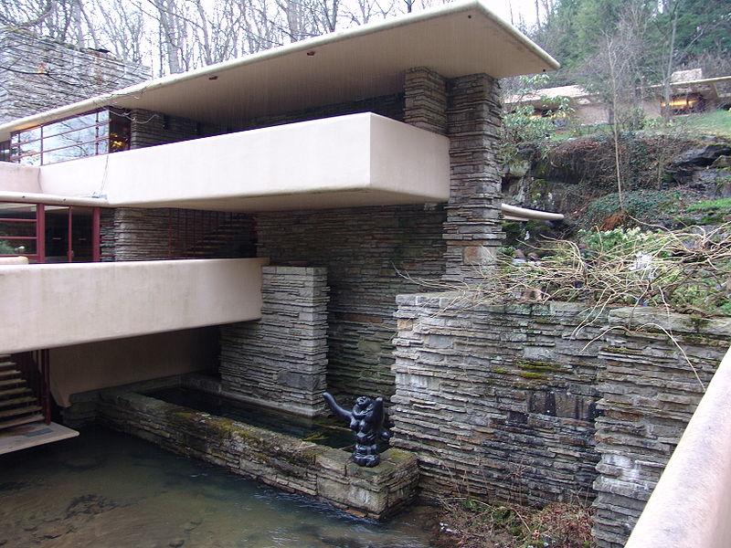 My World Falling Water House On Waterfall