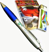 długopisy, układanki, zapalniczki