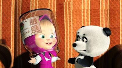 Gambar Kartun Masha dan Panda