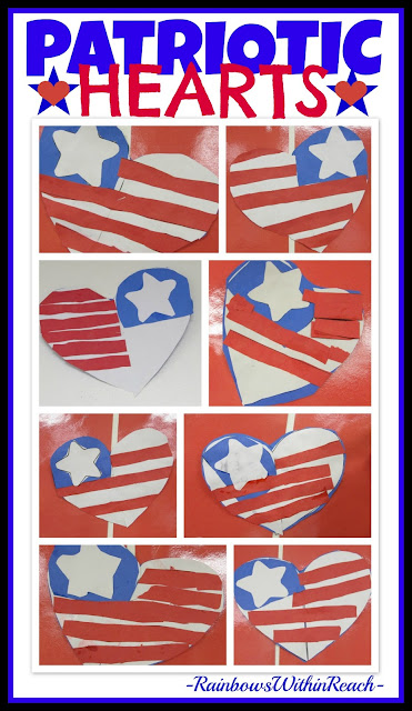 Patriotic Hearts for President's Day via RainbowsWithinReach