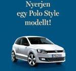 Volkswagen Polo Style személygépkocsi nyeremény