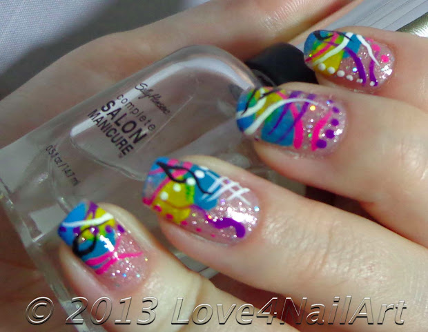 love4nailart retro abstract nail