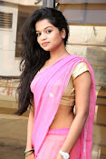 Bhavya Sri Photos in Pink Halfsaree-thumbnail-6
