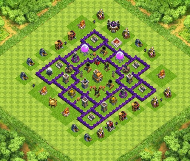 War trophy base town hall 7 designs with air sweeper clash of clans