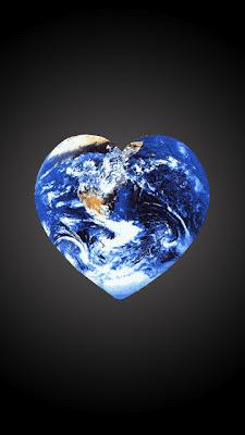 Planet Zemlja u srcu download besplatne pozadine slike za mobitele