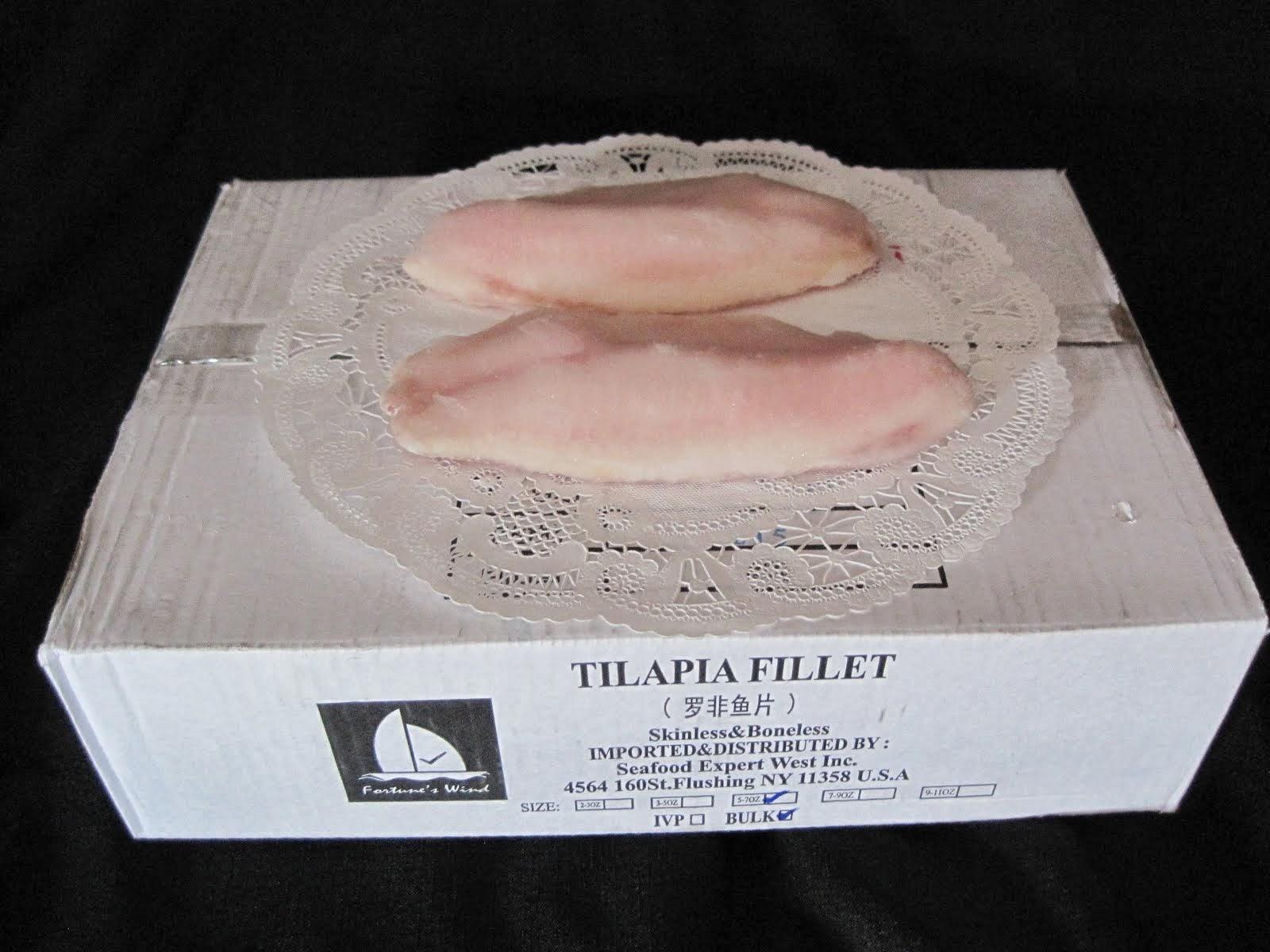 Tilapia Fillet IQF 5-7 oz 10 lb Box - Item # 21305