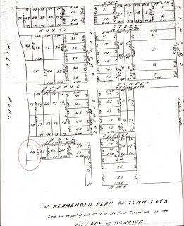 Reamended Plan of Town Lots [Plan 48] by R. G. McGrigor. Source: Whitby Land Registry Office