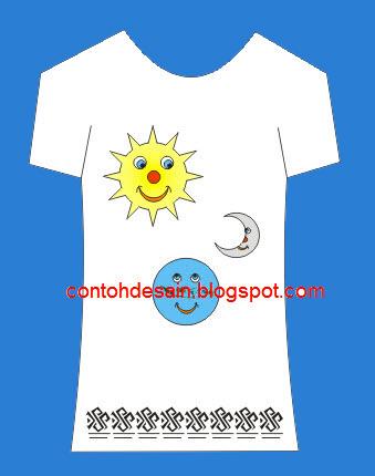 desain kaos matahari bumi dan indonesia