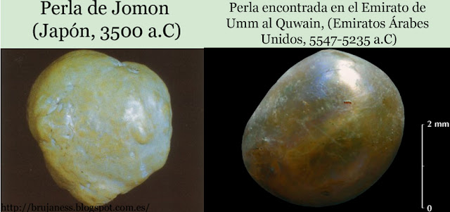 Jomon pearl 5500 Bc japan oldest pearl acient perla burial Umm al quwain united arabic emirates