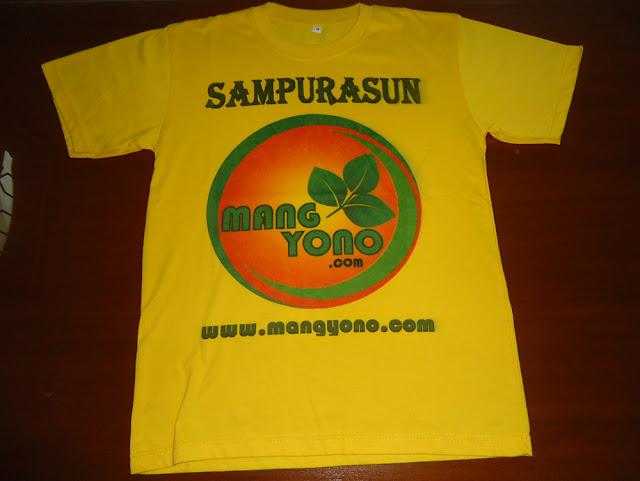 FOTO 1: Tampak depan kaos www.mangyono.com  ( Kuning )
