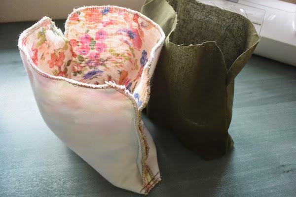 Bolso de tela con boquilla metálica