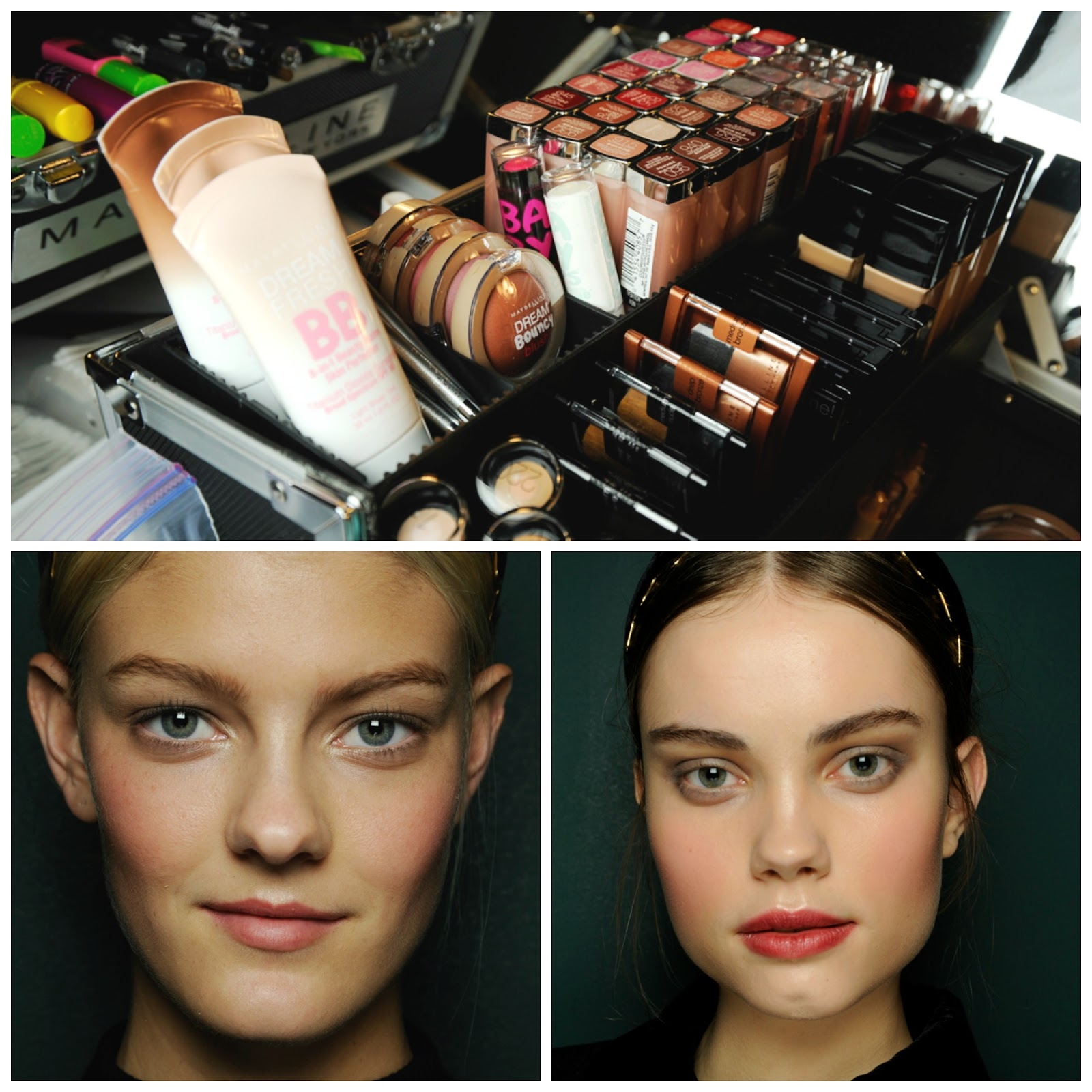 backstage makeup, Maybelline