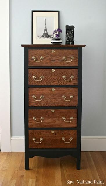 diy, refinished dresser, dresser makeover, stain, general finishes, #fridaysfurniturefix, Friday's Furniture Fix