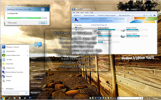 Windows New Edition Yusril Ibnu Maulana (Special Themes for Windows 7)