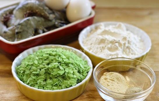 Cách làm tôm tẩm cốm chiên giòn rụm, ngon 1