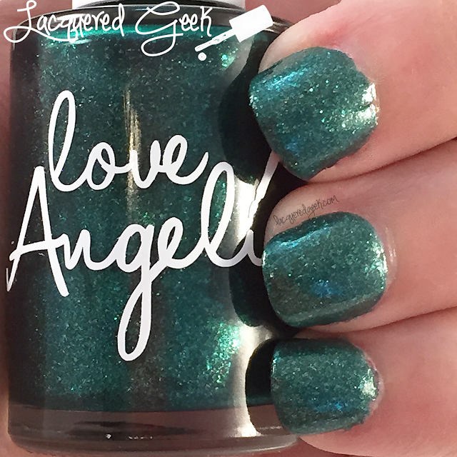 Love, Angeline Emeralds are a Girl's Best Friend nail polish swatch by Lacquered Geek