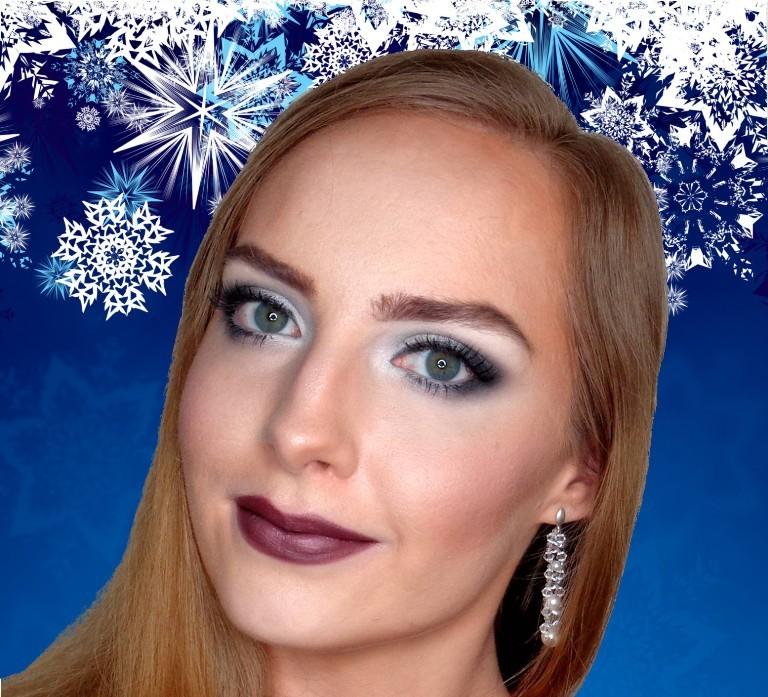 Makijaż zimowo - świąteczny