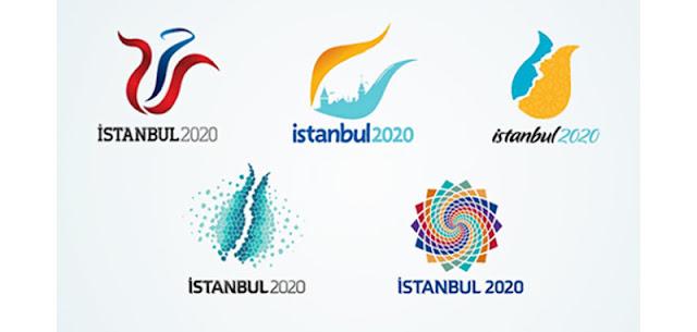 istanbul 2020 olimpiyatları finale kalan logolar